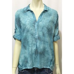 Holding Horses Small Blue Plaid Tie Dye Pop Over